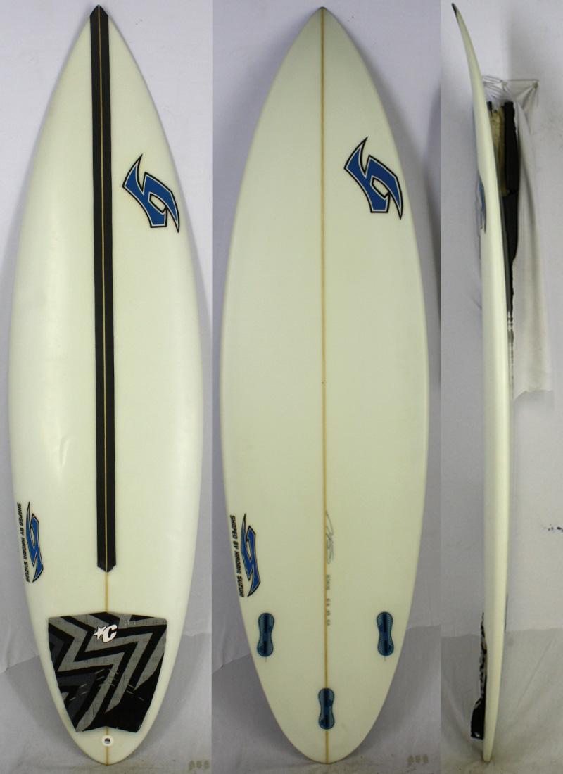 【中古 サーフボード】H SURF BOARD(エイチサーフボード) HIROAKI SUZUKI ショートボード シェイプ SUZUKI サーフボード [clear] 6'3