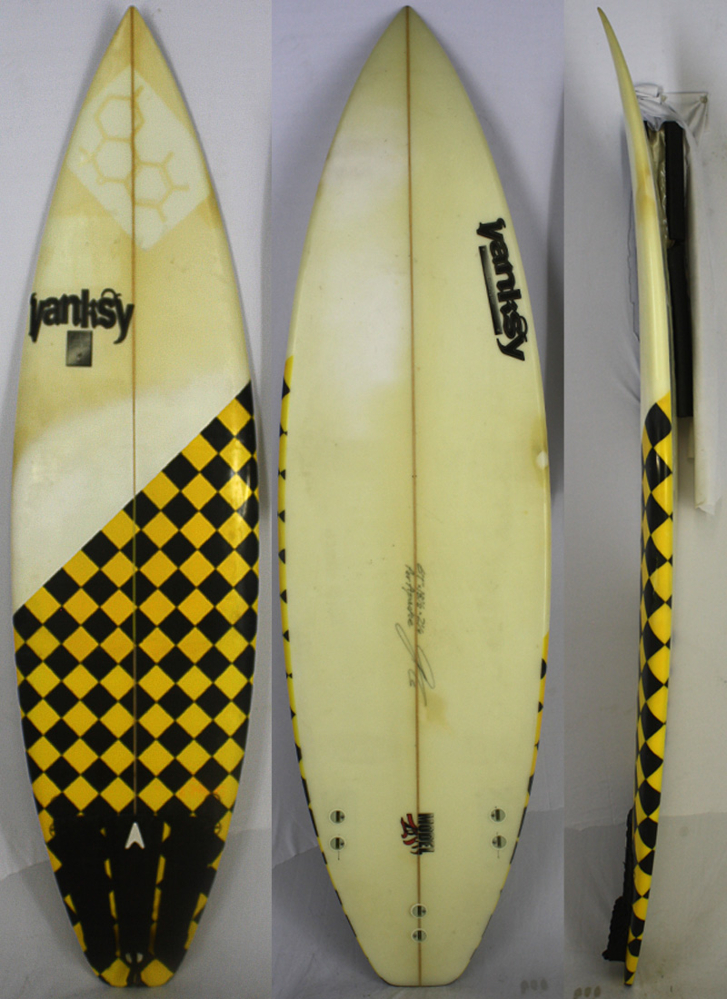 【中古】Vanksy surfboards サーフボード [brush] 6'1