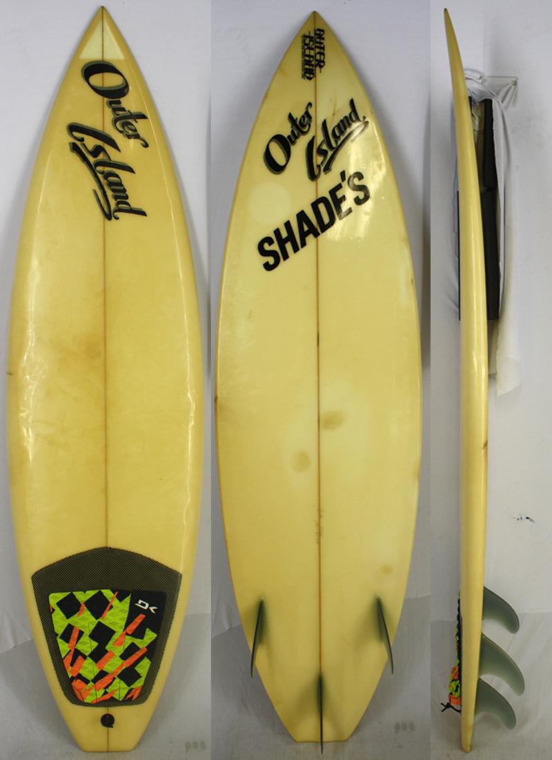 【中古】Outer Island (アウターアイランド) サーフボード [clear] 185cm ショートボード