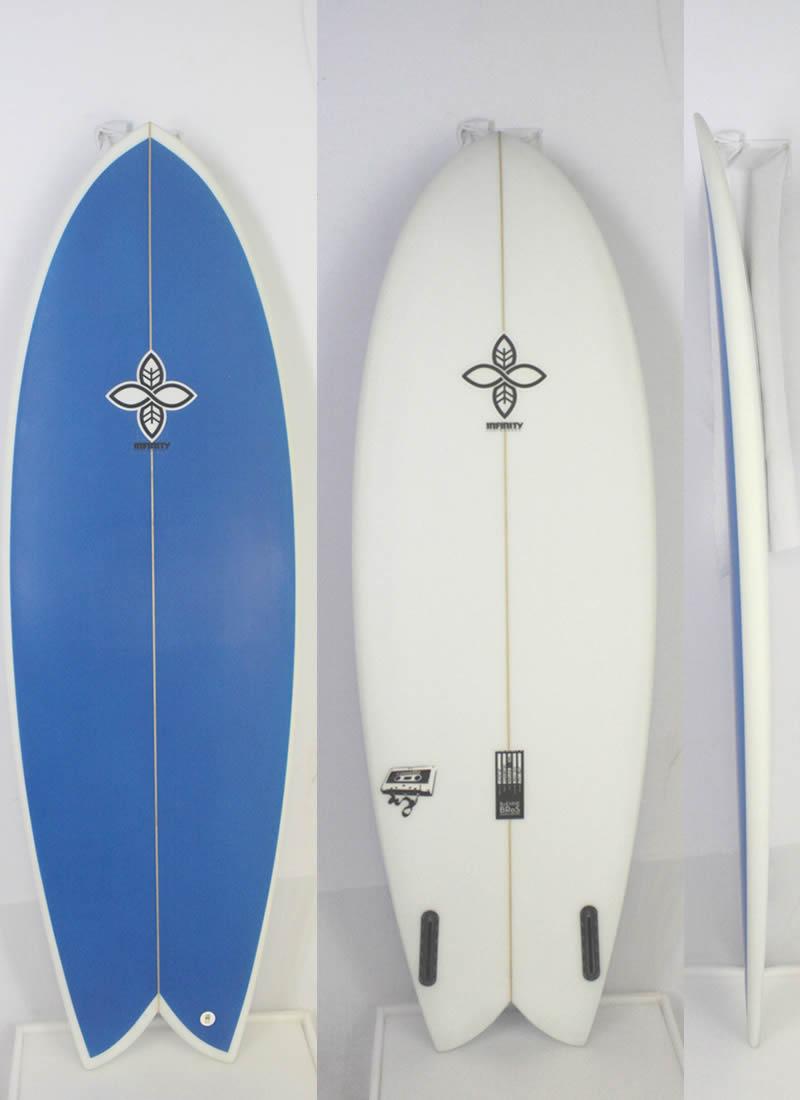 【試乗中古】INFINITY (インフィニティー) CASSETTEモデル サーフボード [CLEAR×BLUE] 5'8