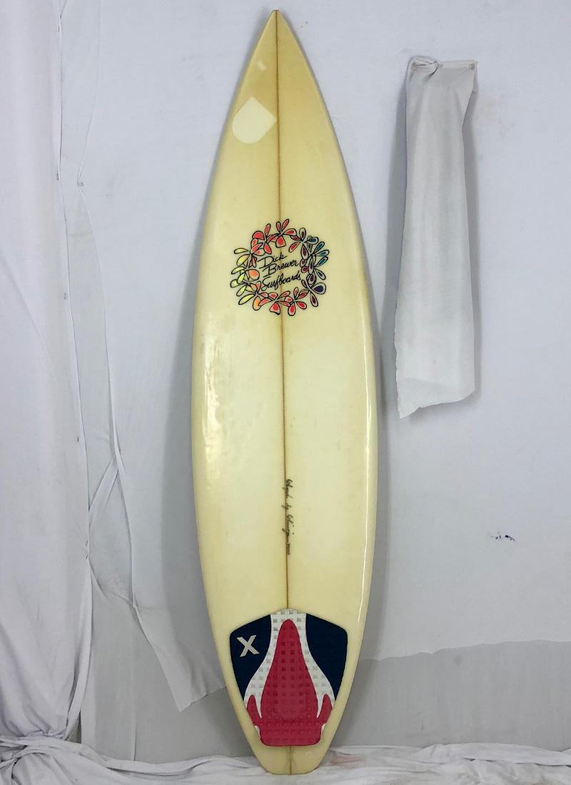 【中古】DICK BREWER SURFBOARD(ディックブルーワーサーフボード)Shaped by Shimoju サーフボード [clear] 6'1