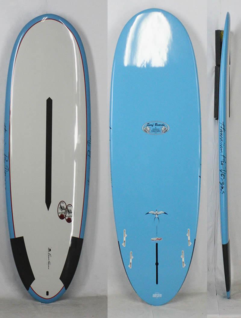 【新品アウトレット】Hawaiian Pro Designs(ハワイアンプロデザイン) SCORPION 2 サーフボード [BLUE/GRAY] 5'10