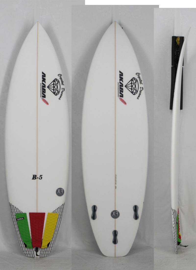 """5'9"""" 【試乗中古】 Crystal Dreams SURF BOARD [B-5] 最新モデル EPS 驚きの超軽量!! 信頼ある AKABA シェイプ クリスタルドリーム サーフボード"""