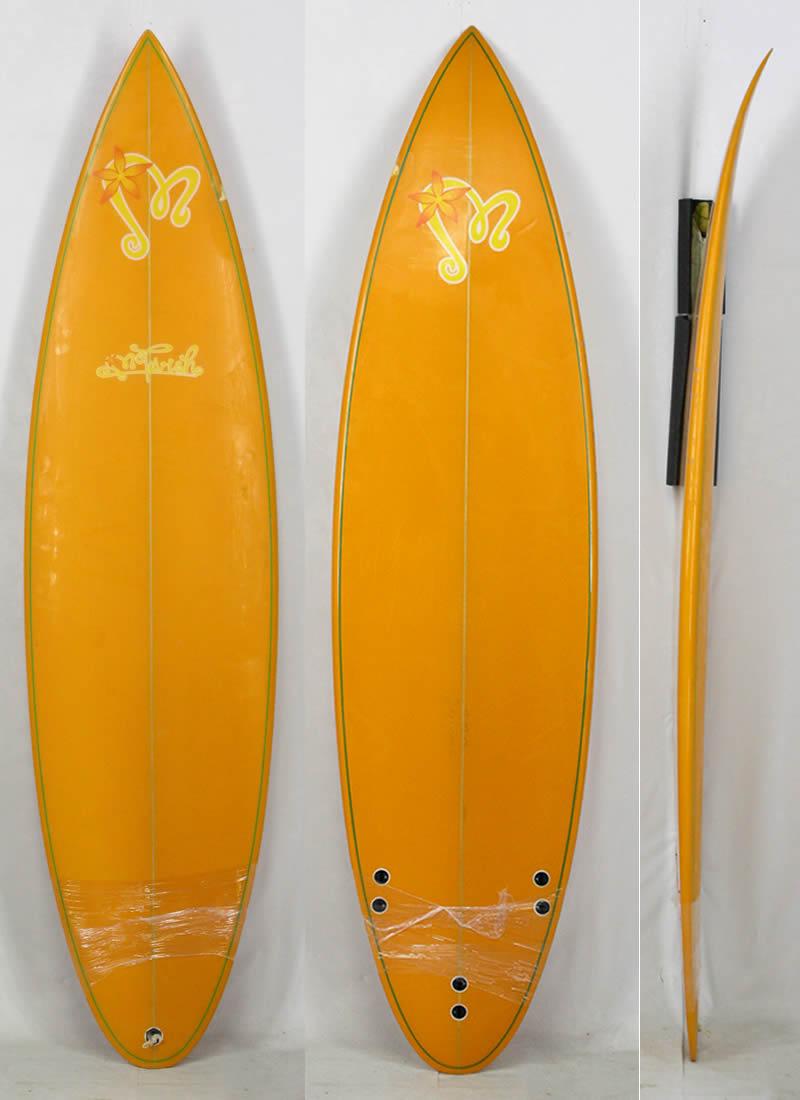 """6'6"""" 【中古】 MCTAVISH SURFBOARDS [ORANGE]やや長さあるショート FIN付き サーフボード"""