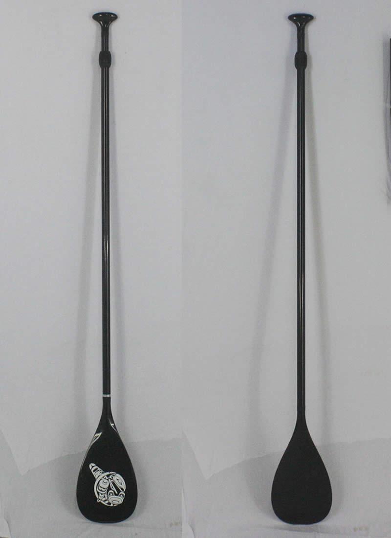 【新品】 Carbon Paddle フルカーボン素材 [176-217cm] アジャスタブル 長さ調節付き 軽量700g SUP用 パドル
