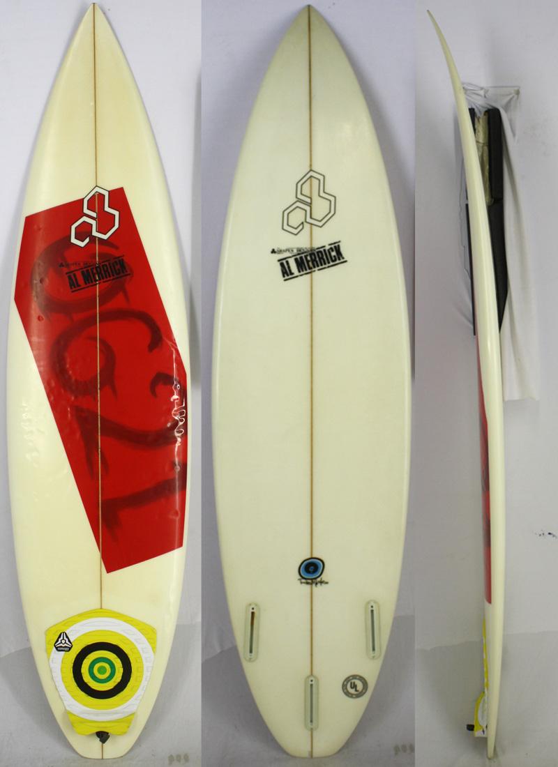 【中古 ショートボード [brush]】CHANNEL ISLANDS(チャンネルアイランド) ALMERRICK Machadoモデル Rob Machadoモデル サーフボード [brush] 6'2
