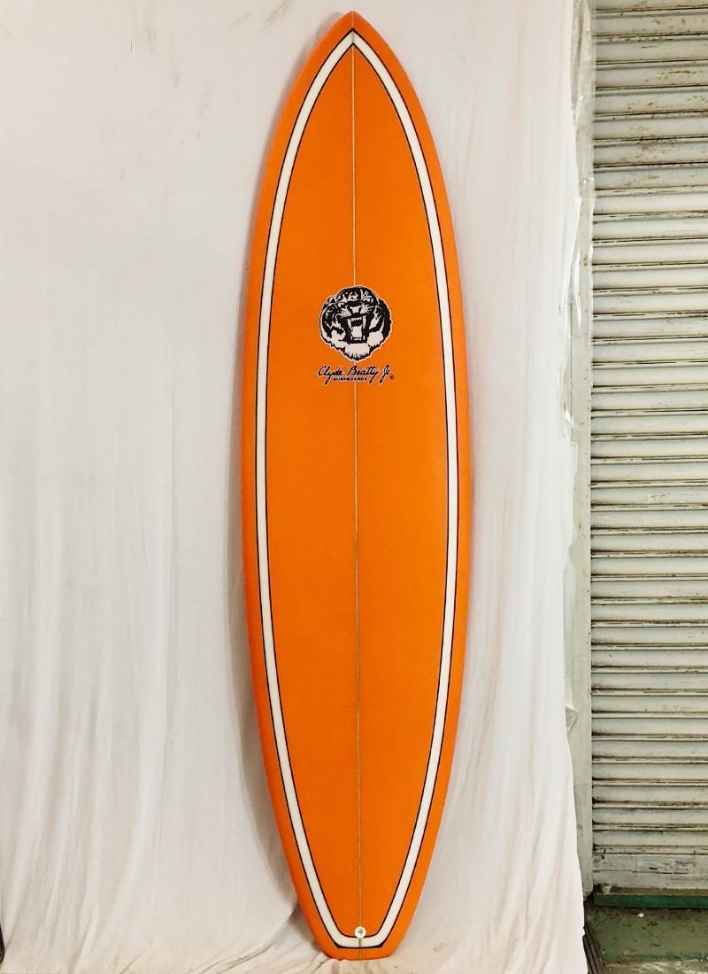 【新品アウトレット】Clyde Beatty Jr(クライド・ビーティー・ジュニア)サーフボード [Orange] 7'2