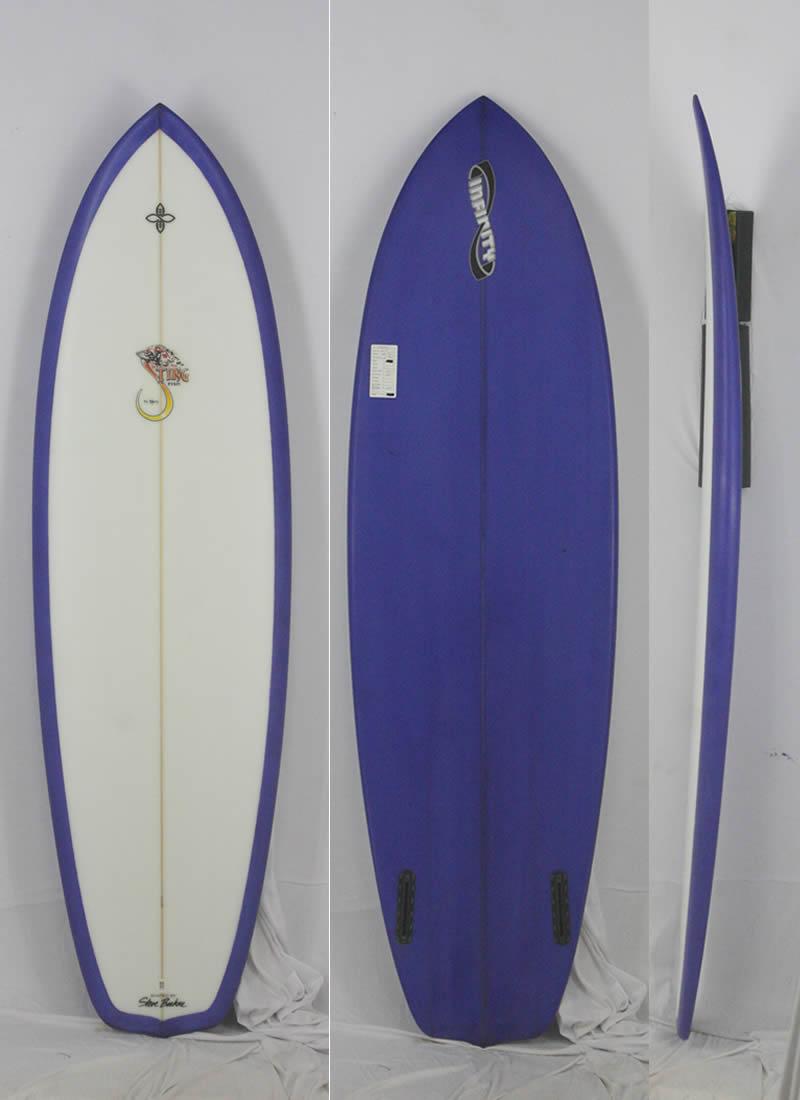 【新品アウトレット】INFINITY (インフィニティー) STING FISH モデル サーフボード [CLEAR/BLUE] 6'2
