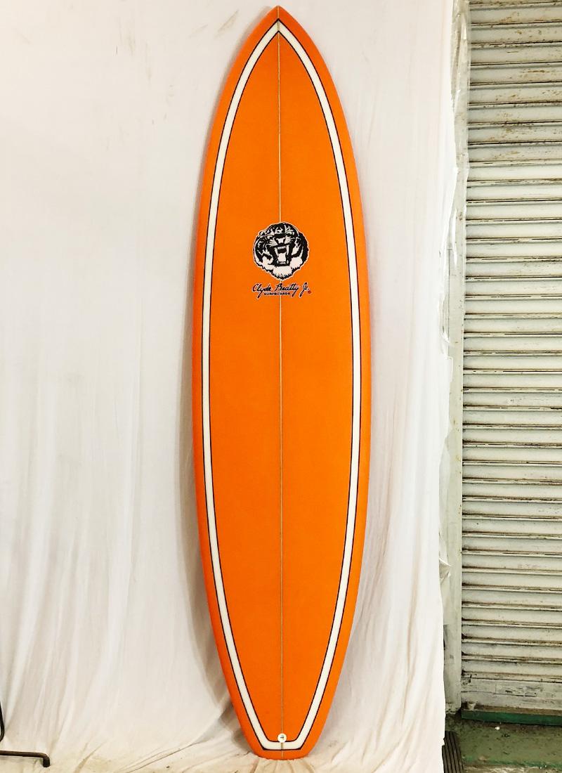 【新品アウトレット】Clyde Beatty Jr(クライド・ビーティー・ジュニア)サーフボード [Orange] 7'4