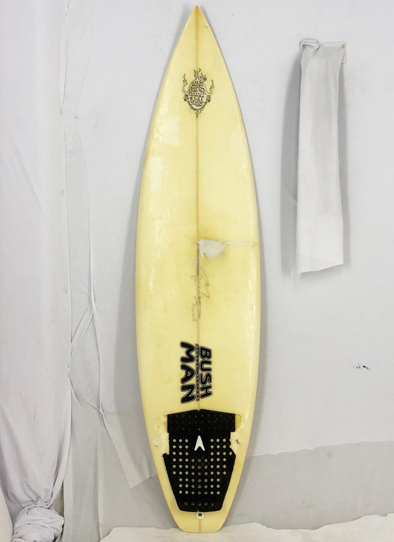【中古】BUSHMAN(ブッシュマン) サーフボード [clear] 185cm ショートボード