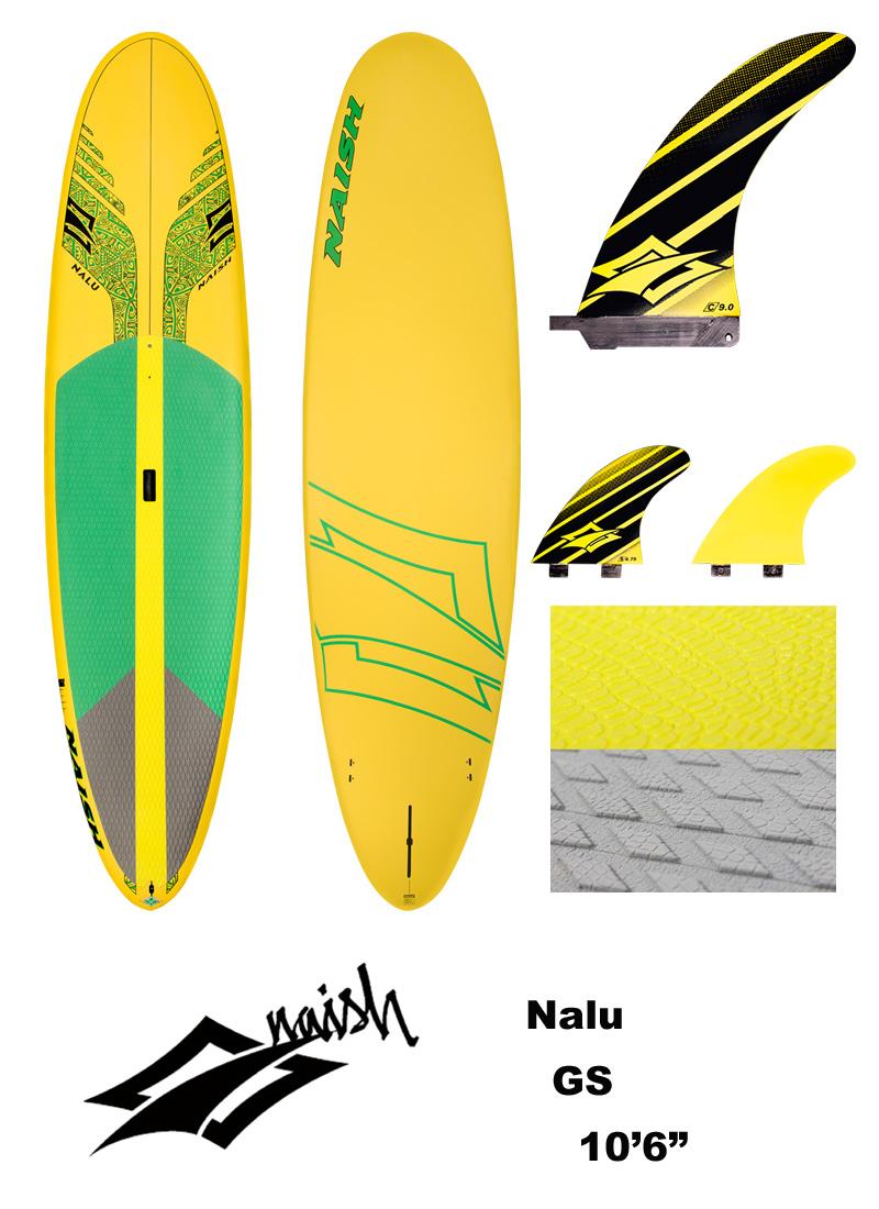 【メーカーお取り寄せ】NAISH(ナッシュ)2017 Nalu GGS モデル スタンドアップパドルボード 10'6
