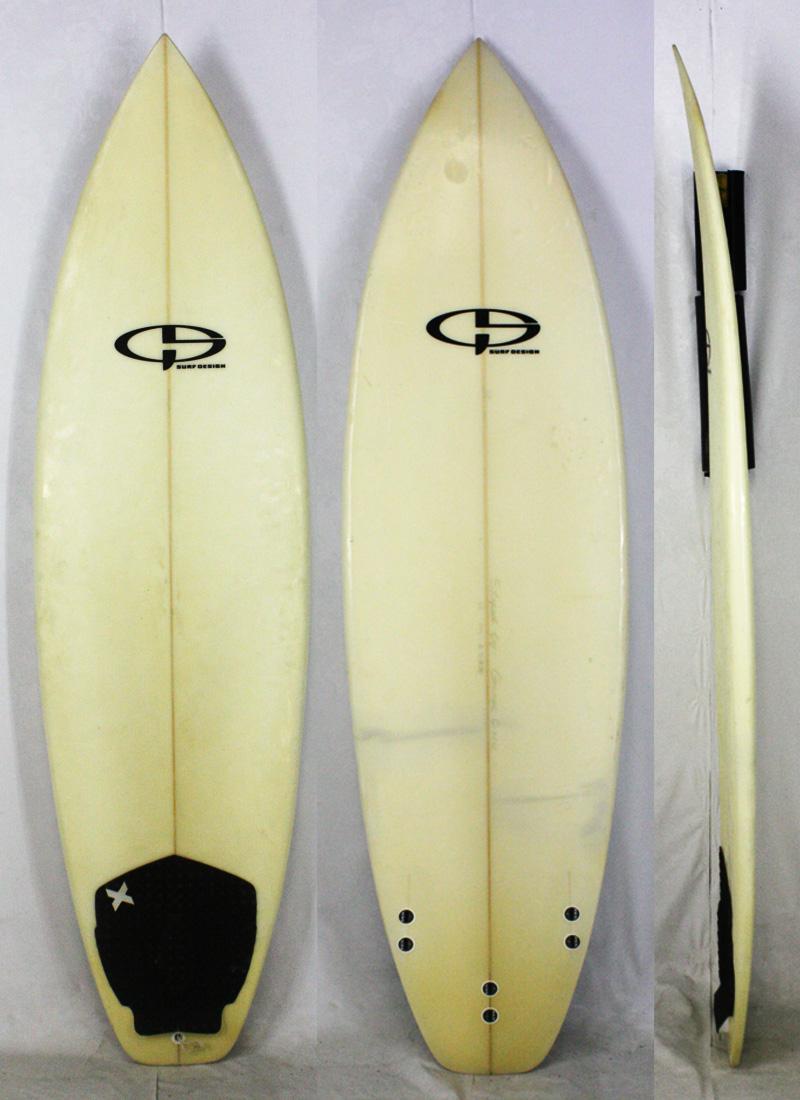 【中古】 No Brand (ノーブランド) shaped by Geage サーフボード [clear] 6'2