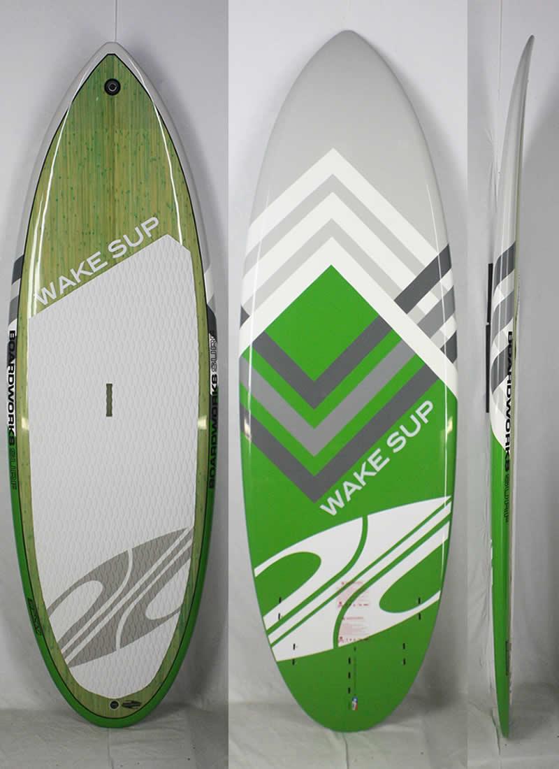 """【新品】BOARDWORKS (ボードワークス)WAKE SUPモデル スタンドアップパドルボード [Green] 7'6"""" WAVE SUP フィン付き"""