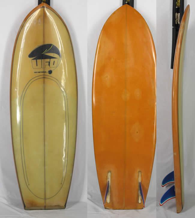 [希少中古] TED'S SURF BOARD(テッド)ビンテージ サーフボード[UFO]5'4