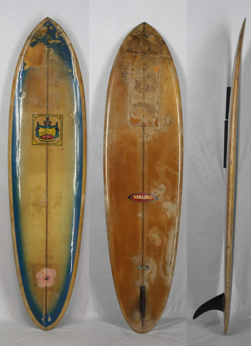 """7'0"""" ビンテージ希少中古 MALIBU SURF BOARD 超レア!! 日本で最初に作られたブランド !! 入手困難 希少な ヴィンテージ サーフボード!!"""