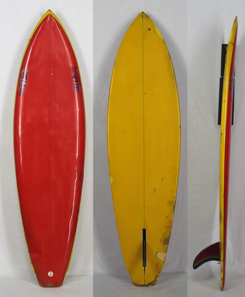 【希少中古】BLIZARD SURF BOARD(ブリザード)ヴィンテージ サーフボード[RED/YELLOW]6'1