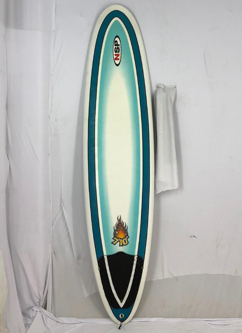 【中古】NSP(エヌエスピー)サーフボード [brush] 7'10