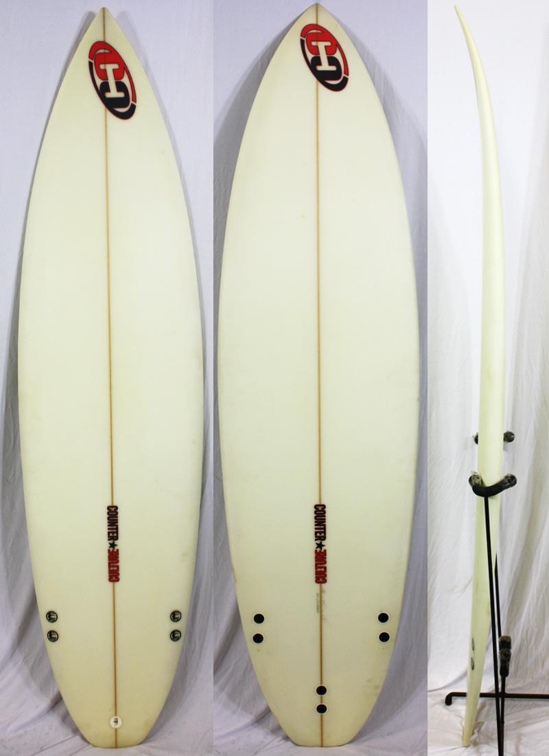 【中古】COUNTER CULTURE(カウンターカルチャーサルバドール)SURFBOARD サーフボード [clear] 6'6