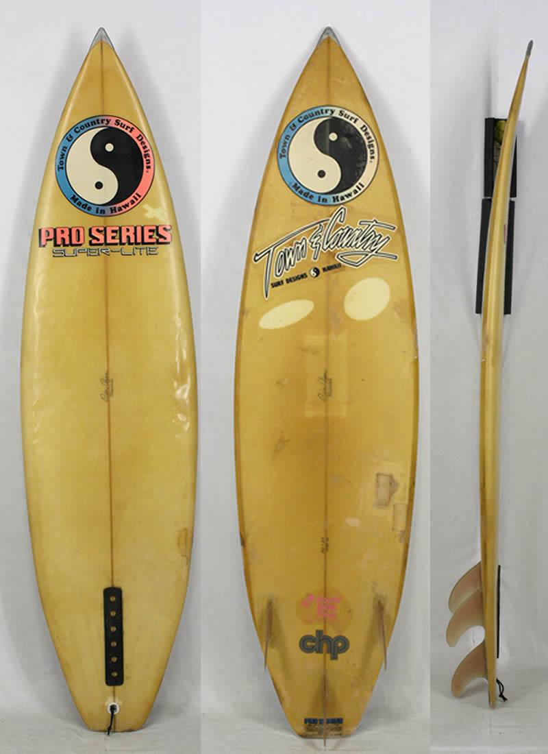 【希少中古】T&C SURFBOARD(タウンアンドカントリー)BEN AIPAシェイプ サーフボード[CLEAR]6'2