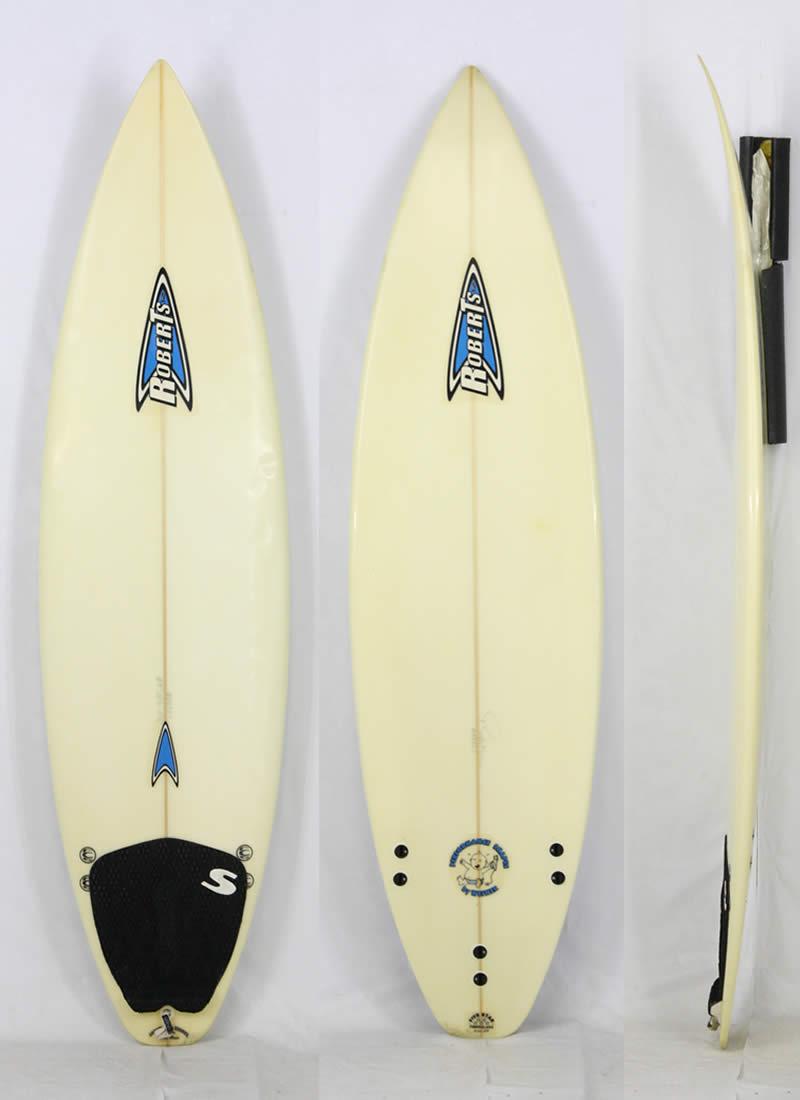 """6'0"""" 【中古】ROBERTS SURFBOARDS [CLEAR] シェイパーズオブザイヤー獲得カリフォルニア出身 Robert Weiner サーフボード  現品限り!"""
