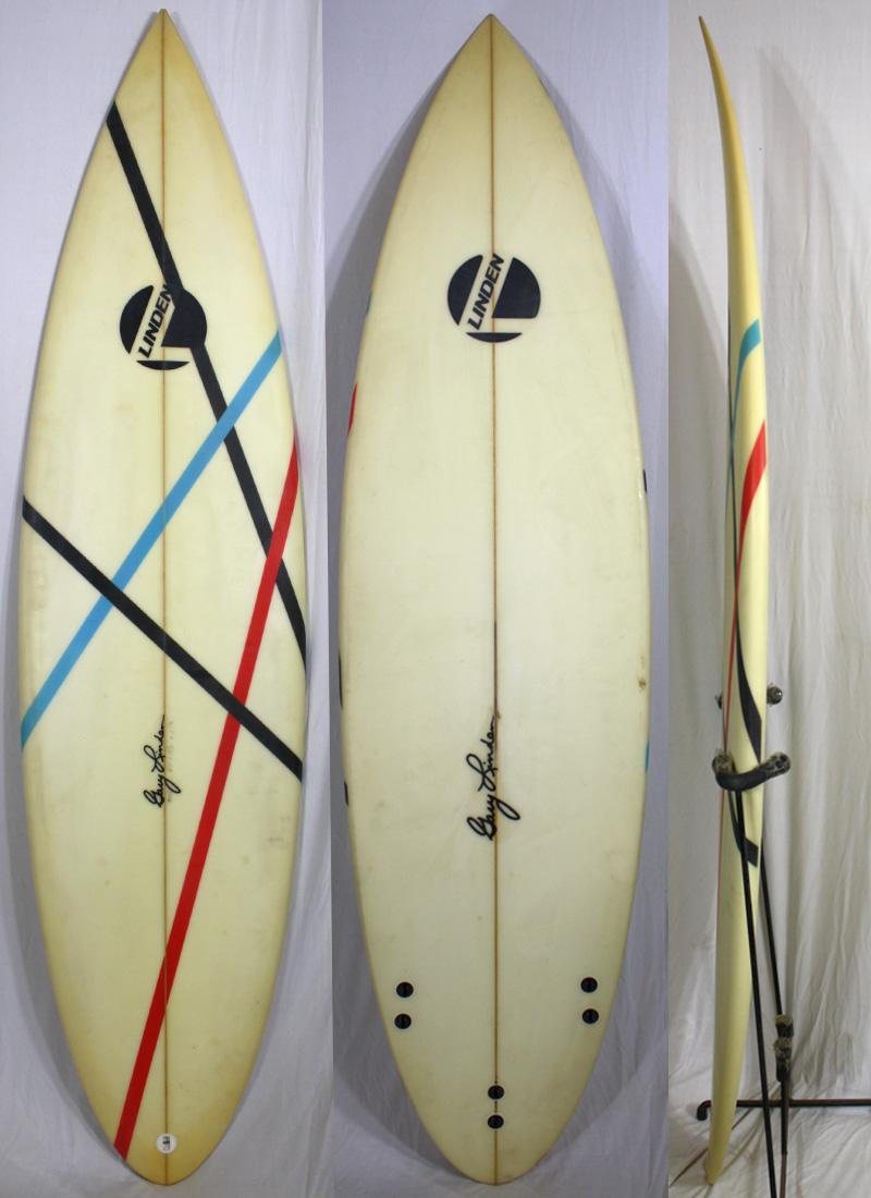 【中古】 LINDEN SURFBOARD(リンデン) サーフボード [brush] 6'3