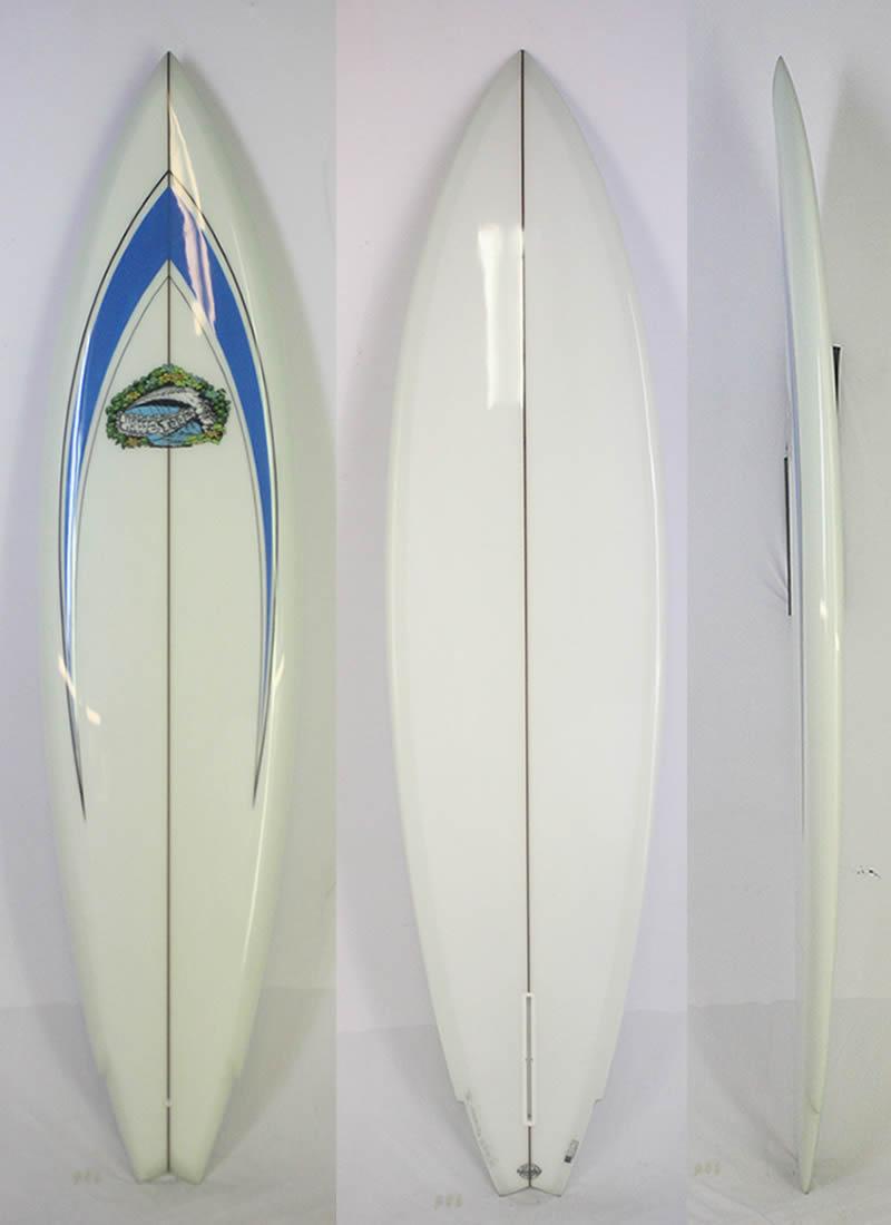 【新品】 WAVE TOOLS (ウェイブツールス) LANCE CALLINS クラシック サーフボード [CLEAR×BLUE] 7'4