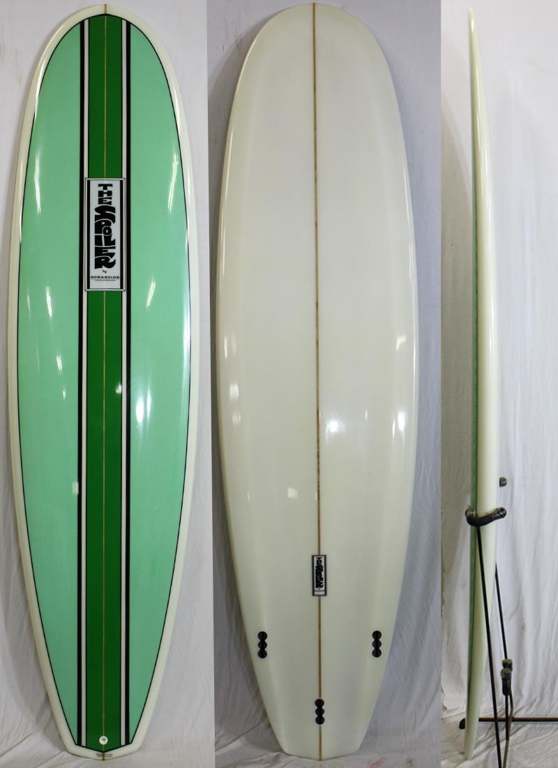 【新品アウトレット】spoiler (スポイラー)サーフボード [stripe/green] 7'6