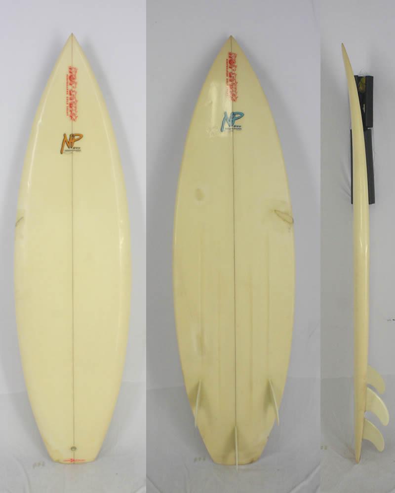 【中古】 HOT STUFF SURF BOARDS (ホットスタッフ) レトロ ショートボード [CLEAR] 5'11