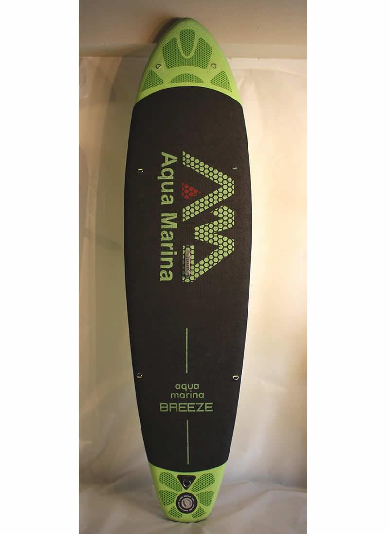 """【中古】AQUA MARINA (アクアマリーナ)BREEZ スタンドアップパドルボード [GREEN] 9'5"""" 付属品付き インフレータブル SUP"""