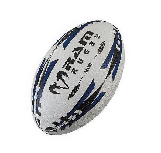 通常と同じラグビーボール1号球 RAM セール特価 スーパーSALE セール期間限定 RUGBY ミニ ブルー エアー 1号球 ラグビーボール