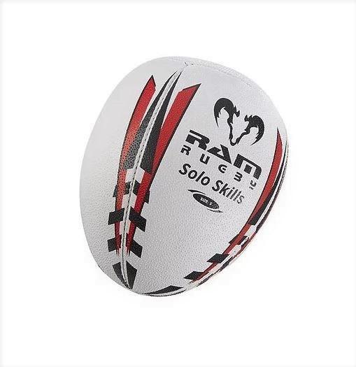 『4年保証』 一人でできるスキルアップボール RAM RUGBY 5号球 贈与 ソロトレーニングボール ラグビーボール