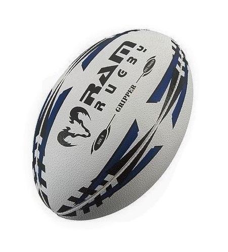 良質なトレーニングボール NEW ARRIVAL RAM RUGBY 4号球 !超美品再入荷品質至上! グリッパー 小学生用 ラグビーボール ブルー