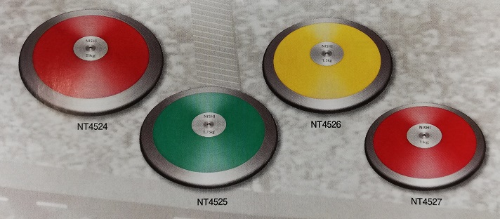 ニシスポーツ 円盤 練習用 1.0kg 直径 180.0mm NT4527 陸上 円盤投げ NISHI
