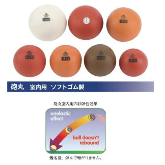 NISHI(ニシ・スポーツ)T5552 【陸上競技】 砲丸 室内用 ソフトゴム製 2.72kg 直径 115mm★15%OFF ★