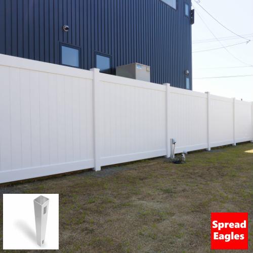 フェンス 支柱 バイナルフェンス SLD1 終端ポスト DIY 柱 目隠しフェンス ポストソリッドプライバシーフェンス用エンドポスト 外構 2020 25%OFF 新作 15kgサイズ