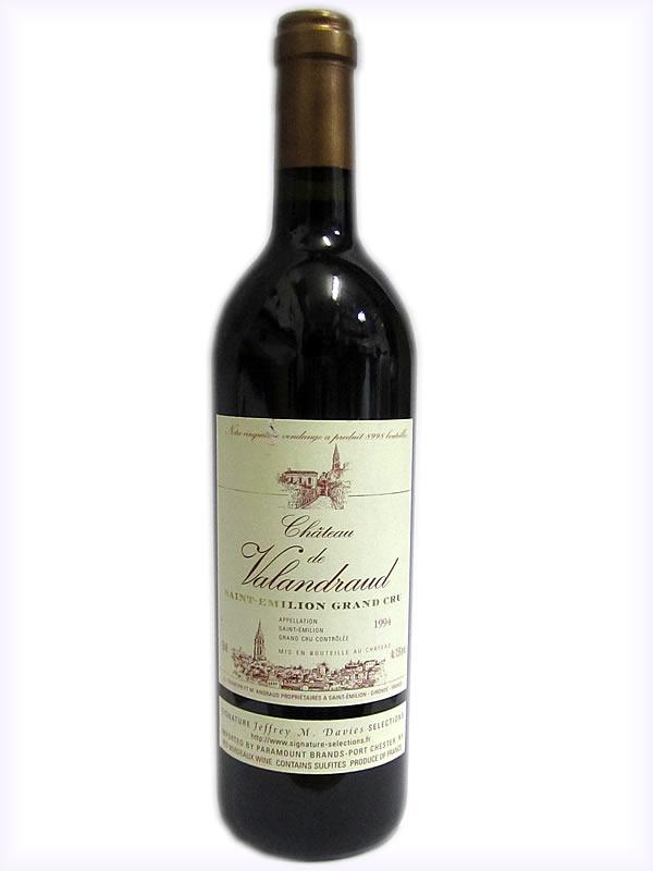 サンテミリオンでもトップクラス 1994 シャトー ド ヴァランドロー CH.DE VALANDRAUD 希少ワイン プレゼント 日本最大級の品揃え お酒 ヴィンテージワイン 赤ワイン フランスワイン 国内即発送