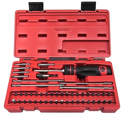 "MAC Tools Mac tool 1 / 4 ""BIT ratchet driver adapter... bit SET with case SBDR49S"