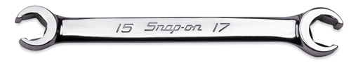 SNAP-ONスナップオンダブル フレアナット レンチ 6ポイント15 x 17mmRXFMS1517B