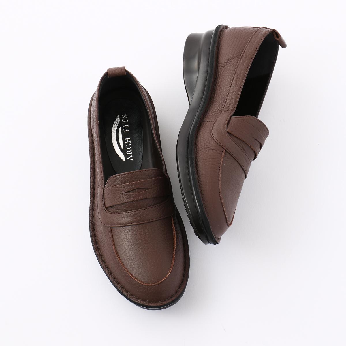 【30%OFF】[ARCH FITS] アーチフィッツ ふかふか ローファーシューズ 婦人靴 レディースシューズ 外反母趾対応 日本製 本革 幅広 送料無料 手作り
