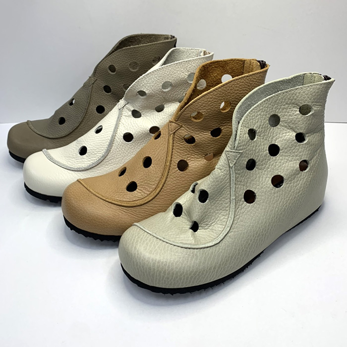 78%OFF スーパーSALE サマーブーツ レディース 幅広 4E ショートブーツ インヒール 秀逸 穴あきブーツ 履きやすい おしゃれ 日本製 正規品送料無料 かわいい お買い得品 婦人靴 本革 柔らかい 牛革 送料無料 神戸シューズ