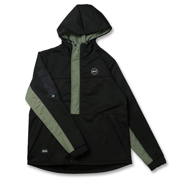 Arch(アーチ)アウター ジャケット bonded hoodie jacket【black】バスケ ウェア