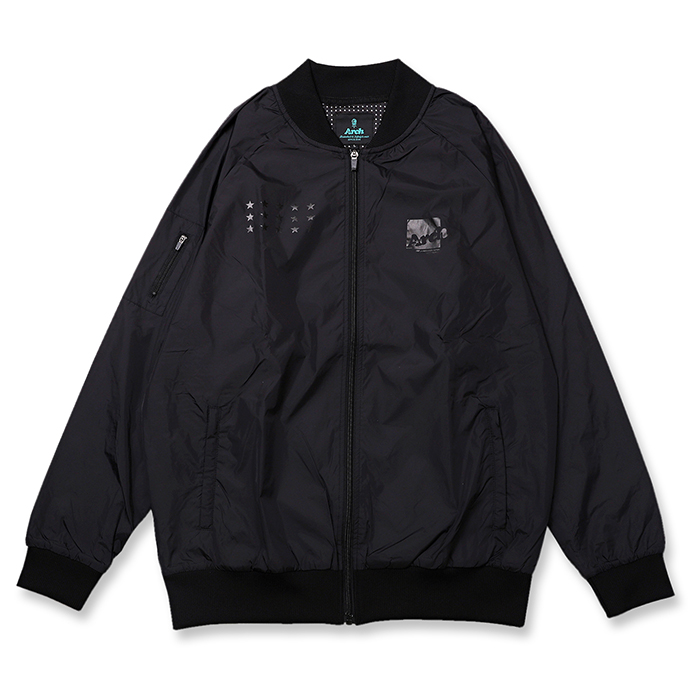 Arch(アーチ)ボマージャケット box logo bomber jacket【black】バスケ ウェア