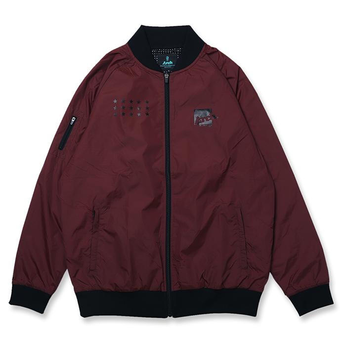 Arch(アーチ)ボマージャケット box logo bomber jacket【dark maroon】バスケ ウェア