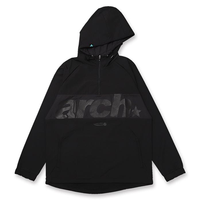 Arch(アーチ)アノラックジャケット sporty logo anorak jacket【black】バスケ ウェア