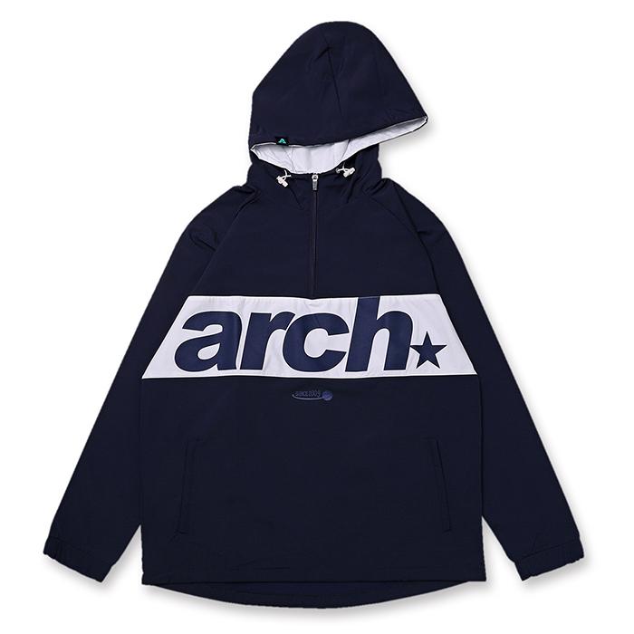 Arch(アーチ)アノラックジャケット sporty logo anorak jacket【navy】バスケ ウェア