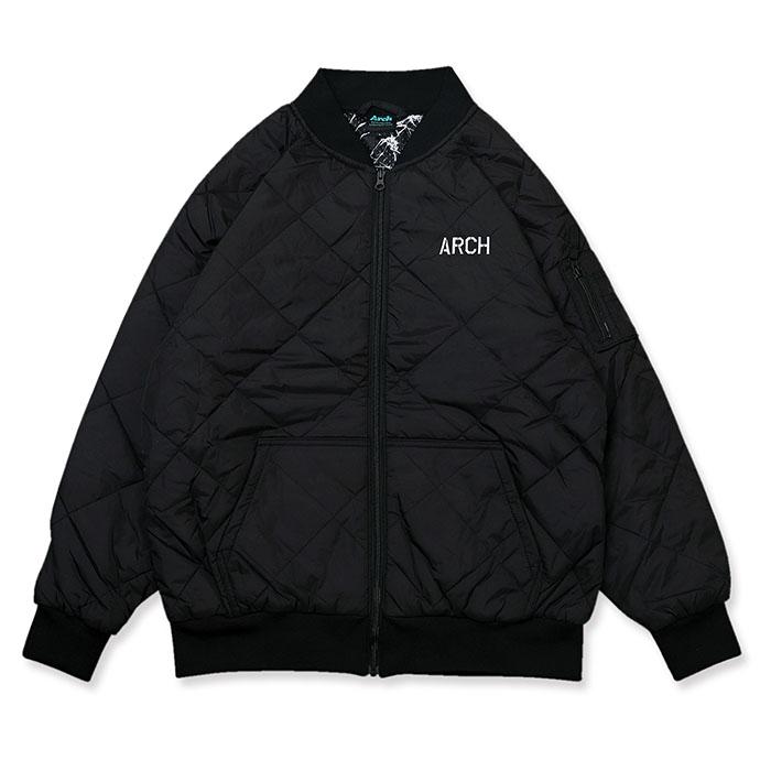 Arch(アーチ)スウェット stencil flight jacket【black】バスケ ウェア