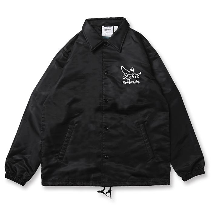 Arch(アーチ)コーチジャケット Mark Gonzales x Arch ball MG coach jacket【black】バスケ ウェア