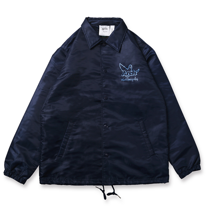 Arch(アーチ)コーチジャケット Mark Gonzales x Arch ball MG coach jacket【navy】バスケ ウェア