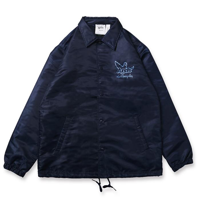 Arch(アーチ)コーチジャケット Mark Gonzales x Arch ball MG coach jacket【navy】バスケ ウェア