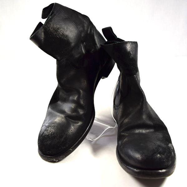 【値下げ】【2020/06/03】DOLCE&GABBANA / ドルチェ & ガッバーナ ◆ジョッパーブーツ/スエードレザー/ヴィンテージ加工/ブラック/UK8.5 2870 【メンズ/MEN/男性/ボーイズ/紳士】【靴/クツ/シューズ/SHOES】 メンズファッション【中古】